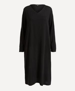 V-Neck Long-Sleeve Dress