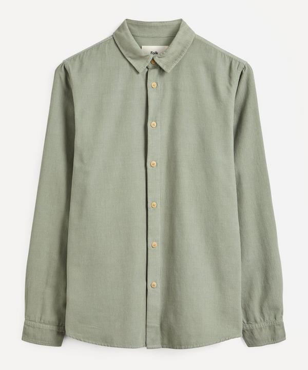 Folk - Baby Cord Micro Check Shirt
