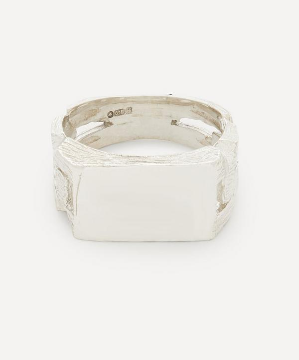 Johnny Hoxton - Chain Link Bark Effect Signet Ring