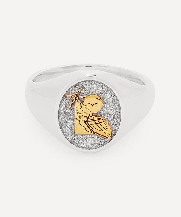 Johnny Hoxton - Sterling Silver Dylan Signet Ring