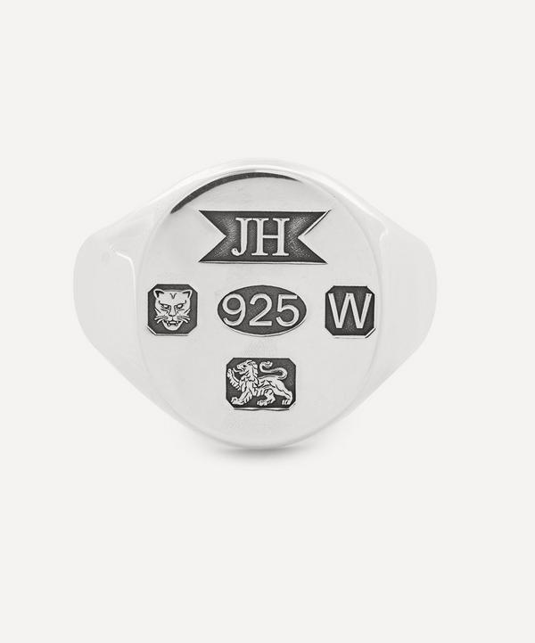 Johnny Hoxton - Sterling Silver Enlarged Hallmark Signet Ring