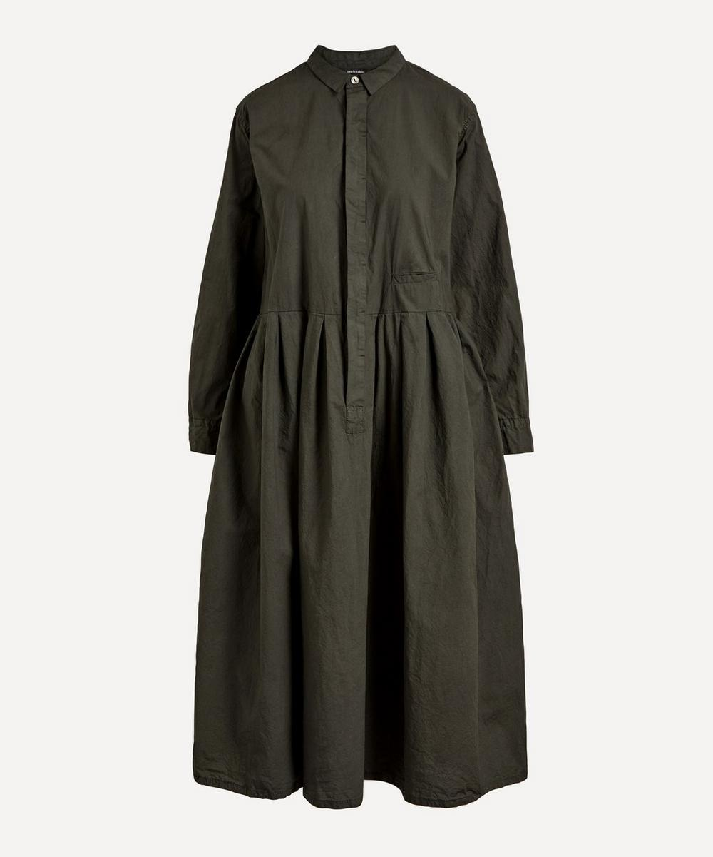 pas de calais - Cotton Button-Up Midi-Dress