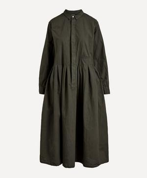 Cotton Button-Up Midi-Dress
