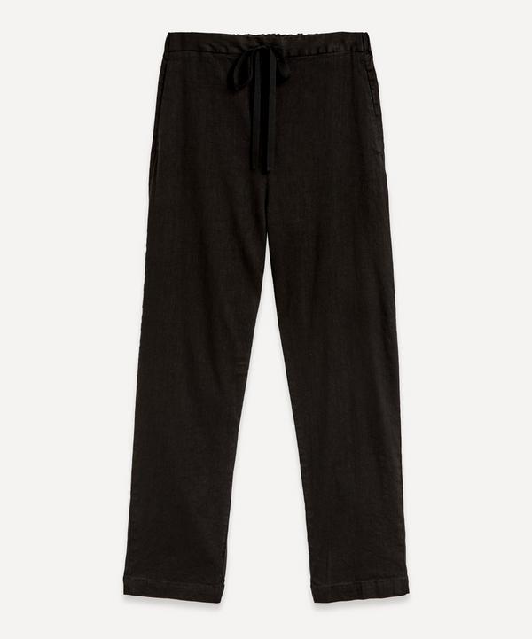 pas de calais - Elasticated Linen-Mix Trousers