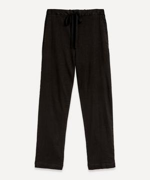 Elasticated Linen-Mix Trousers