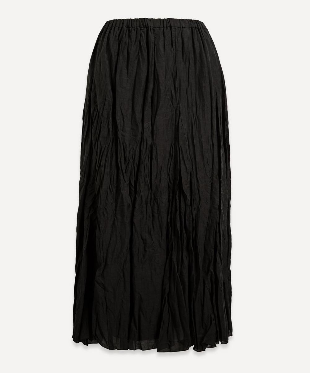 pas de calais - Crinkle Midi-Skirt