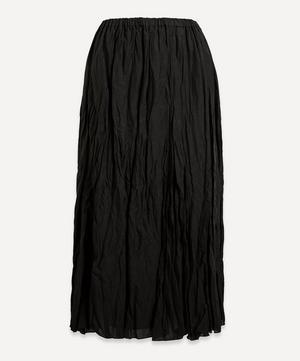 Crinkle Midi-Skirt