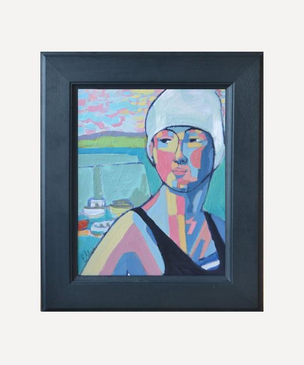 Poppy Ellis - Annette at Newquay Original Framed Artwork