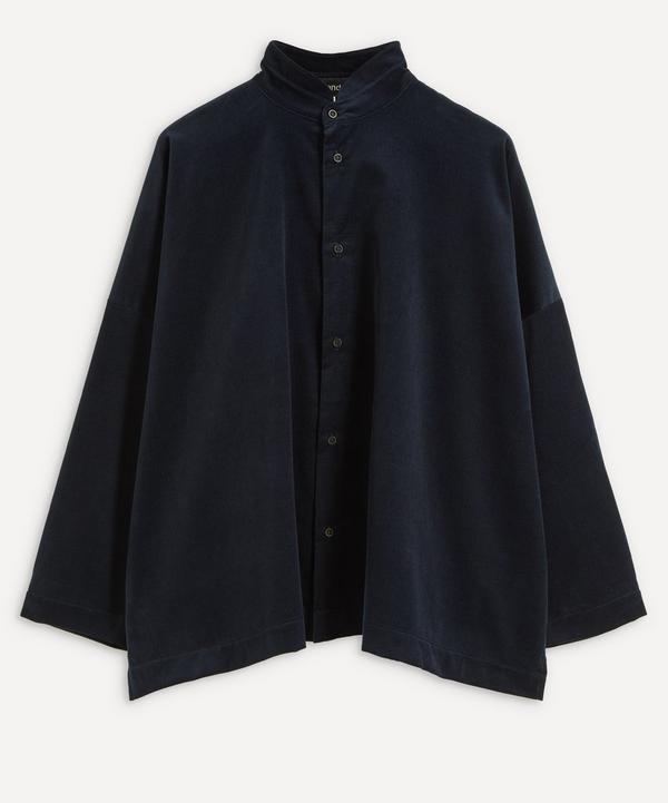 Eskandar - Double Stand Collar Shirt