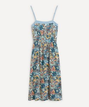 Marine Bloom Midi-Dress