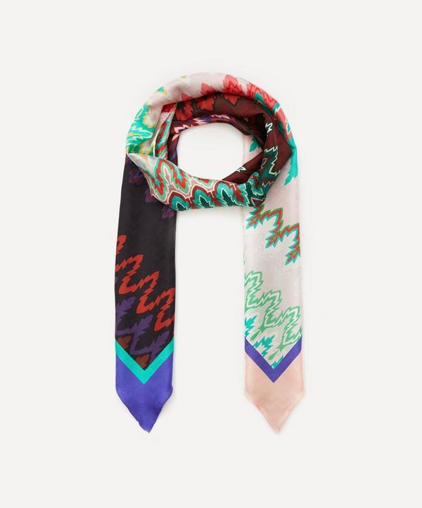 Missoni - Zig-Zag Stripe Print Silk Twilly Scarf