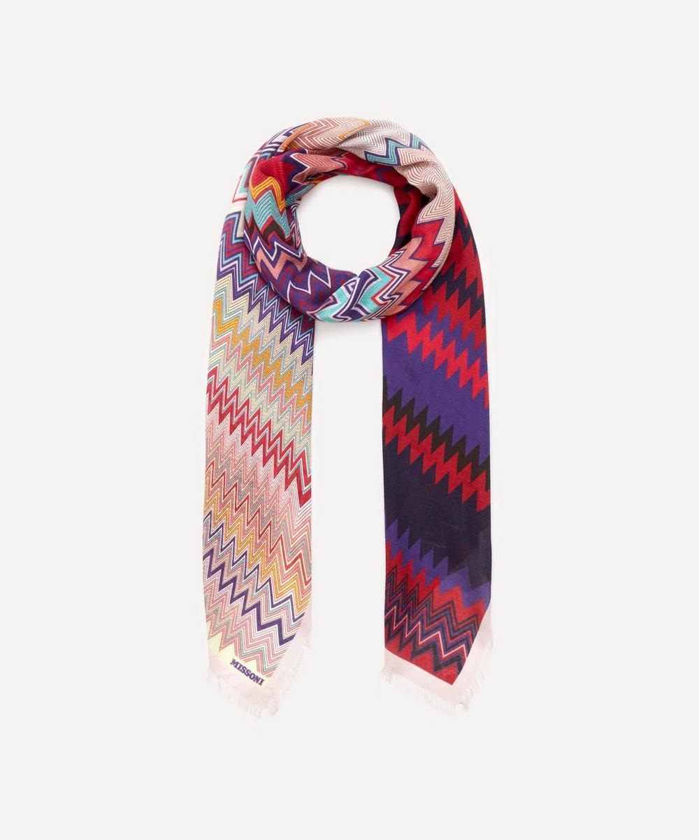 Missoni - Zig-Zag Stripe Print Modal-Blend Scarf