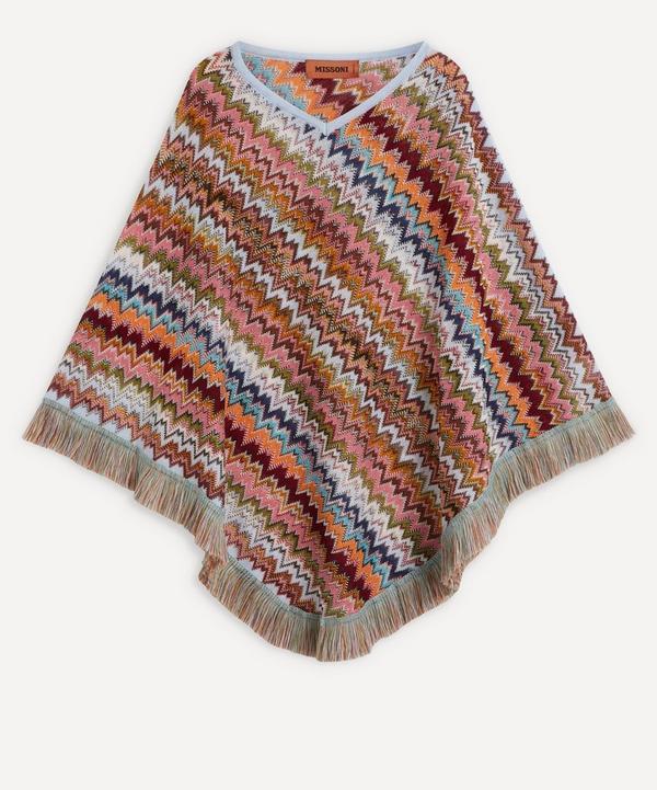 Missoni - Zig-Zag Stripe Fringed Wool-Blend Poncho
