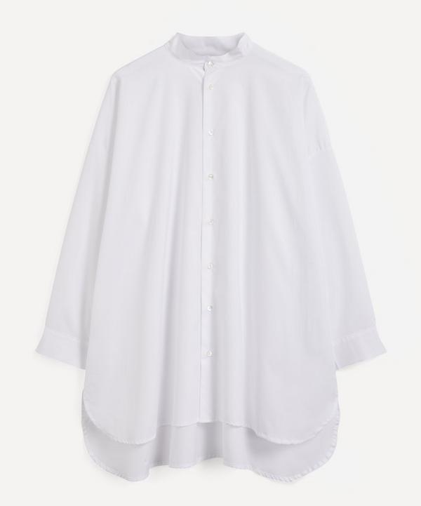 Eskandar - A-Line Collarless Shirt