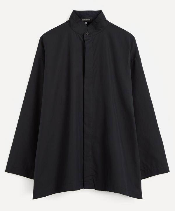 Eskandar - Double Stand Collar A-Line Shirt
