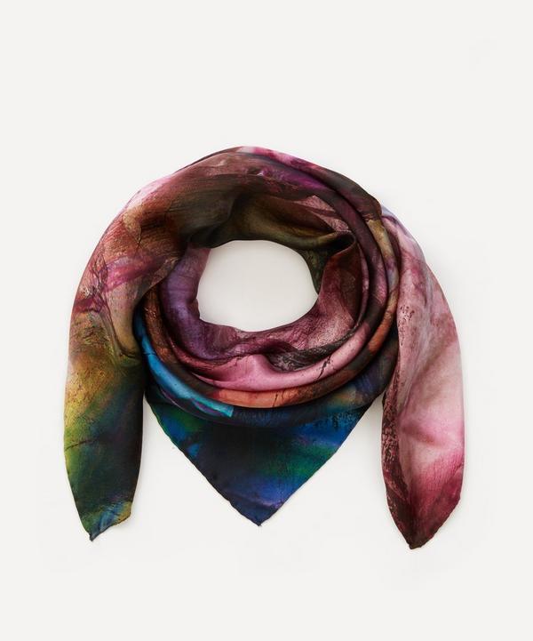 Weston - Purple Fluorite Print Silk Scarf