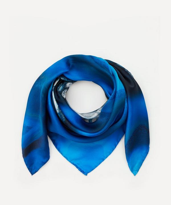 Weston - Sky Agate Print Silk Scarf