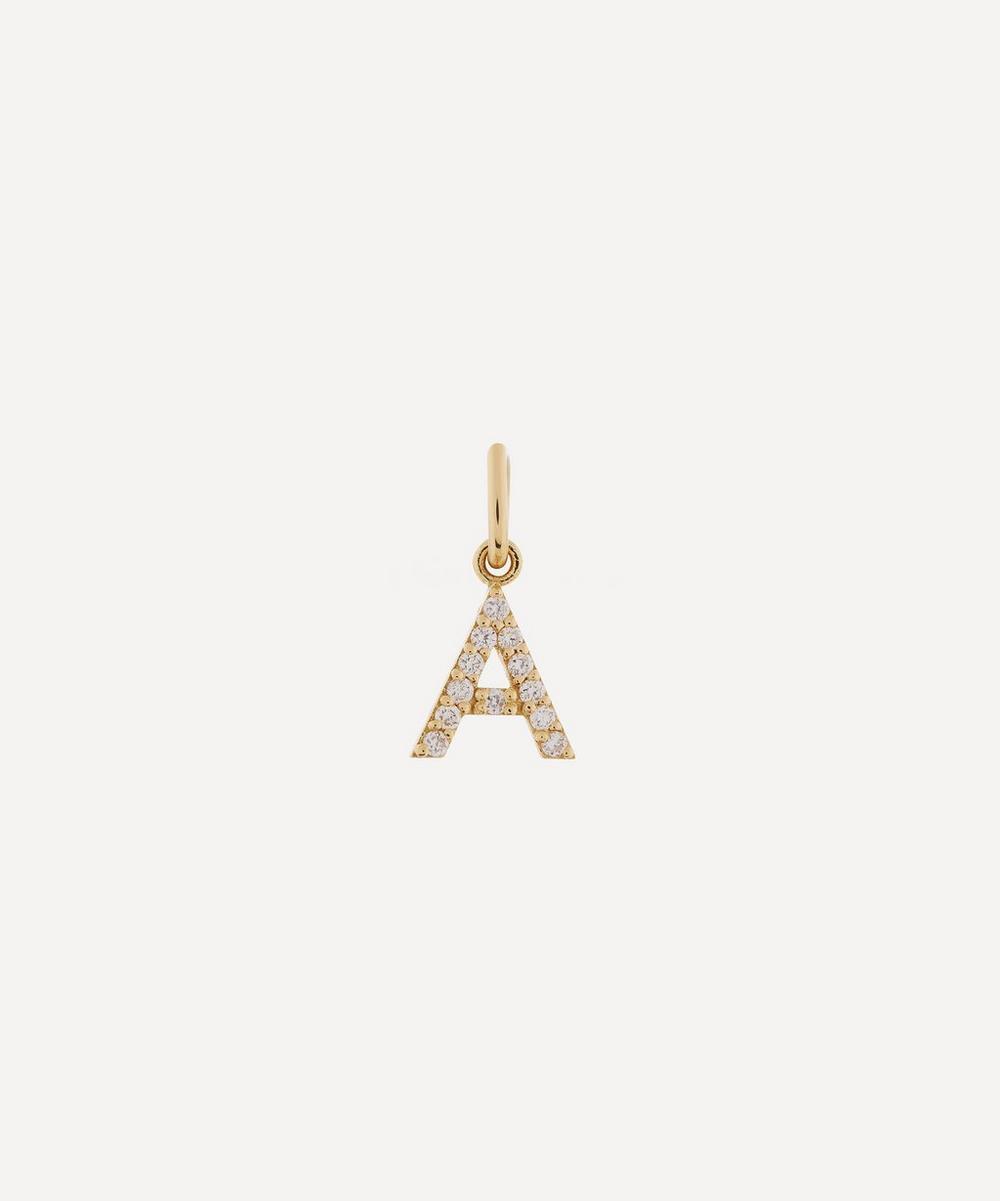 Liberty - 18ct Gold Letter A Diamond Alphabet Pendant
