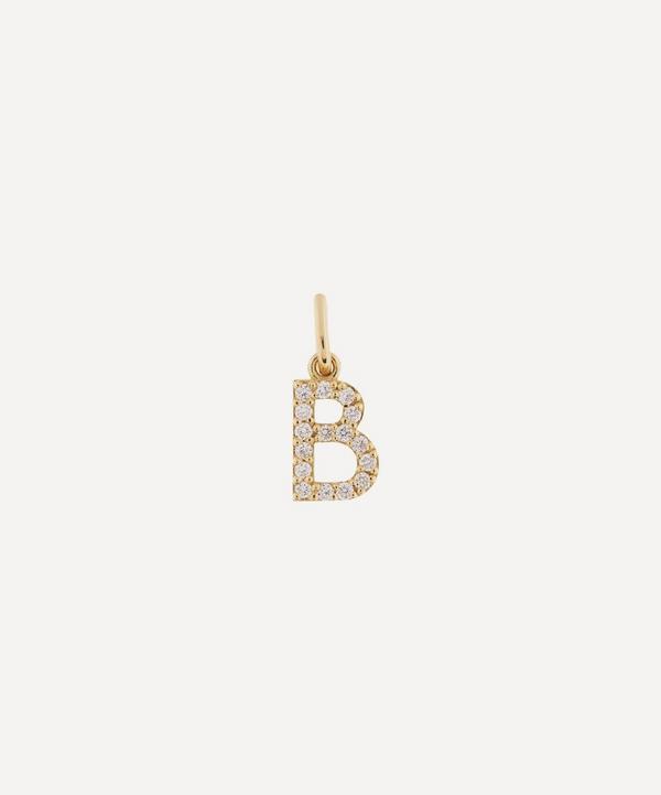 Liberty - 18ct Gold Letter B Diamond Alphabet Pendant