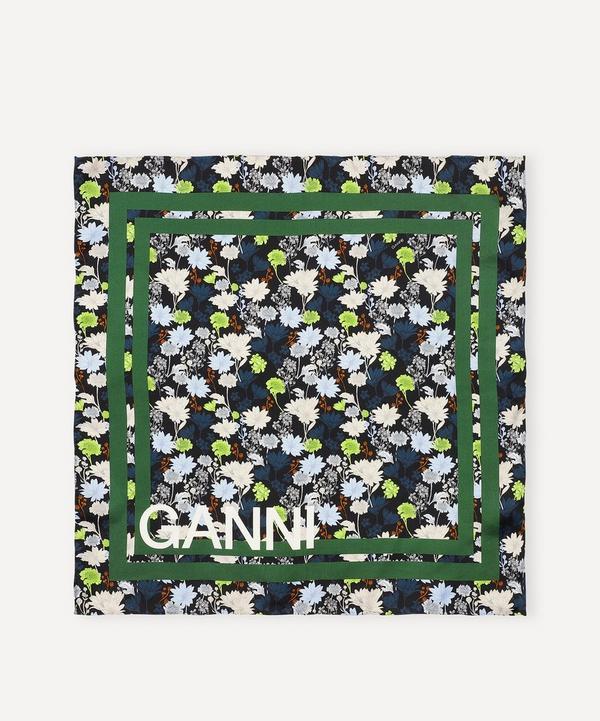 Ganni - Floral Print Silk Twill Scarf