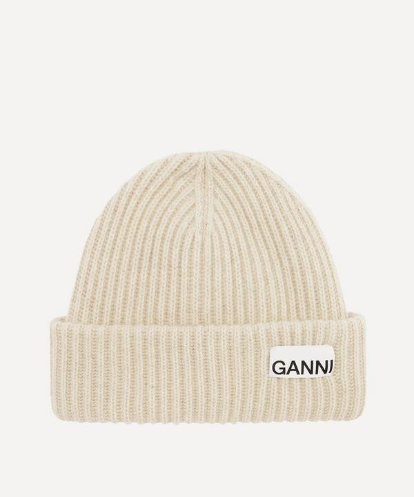 Ganni - Recycled Wool-Blend Beanie Hat