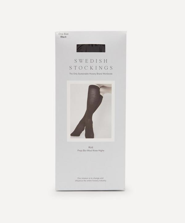 Swedish Stockings - Freja Organic Wool-Blend Ribbed Knee-High Socks