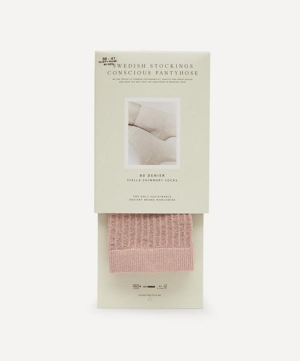 Swedish Stockings - Stella 80 Denier Shimmery Ribbed Socks