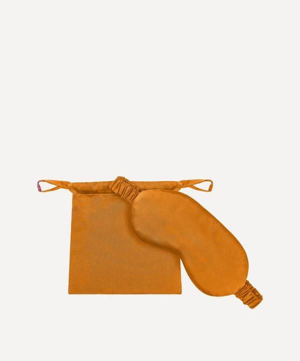 Asceno - London Rust Orange Silk Eye Mask