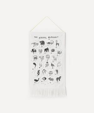 Animal Alphabet Printed Tapestry