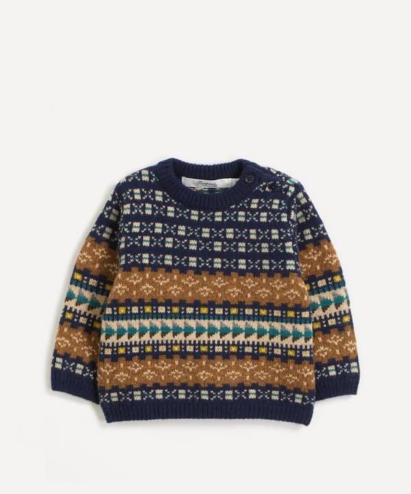 Bonpoint - Jacquard Cotton-Wool Jumper 6 Months