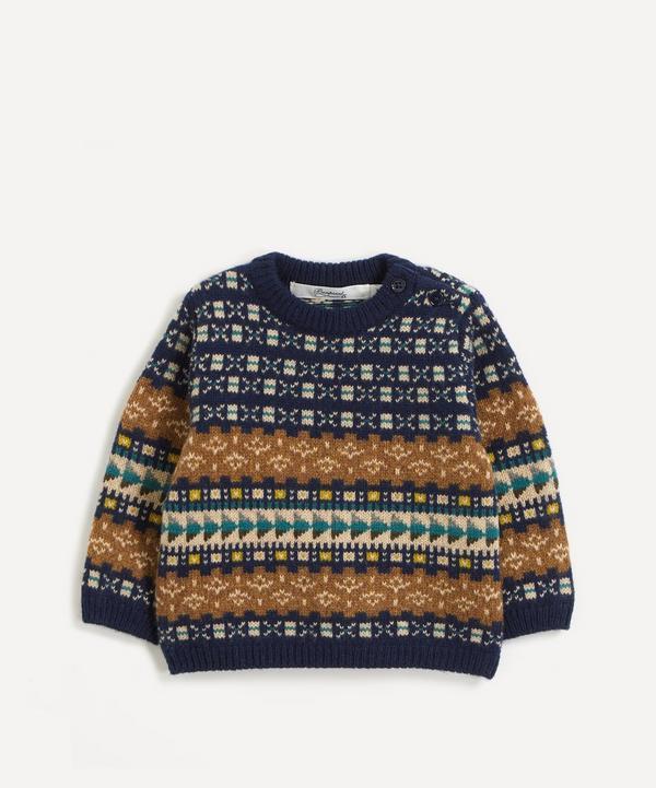 Bonpoint - Jacquard Cotton-Wool Jumper 12 Months