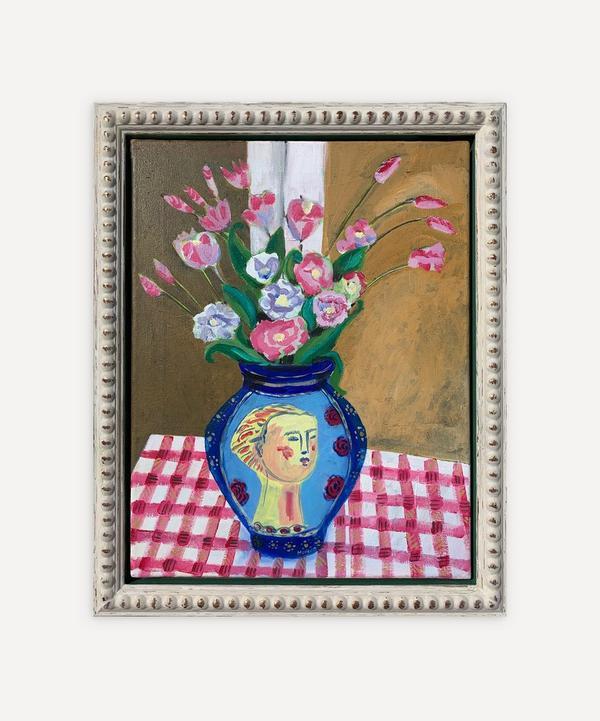 Naomi Munuo - Satsuma Vase with Bouquet 2020 Original Framed Artwork