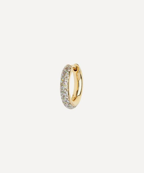 Maria Black - Gold-Plated Kate Glitter Opal Enamel Single Huggie Hoop Earring