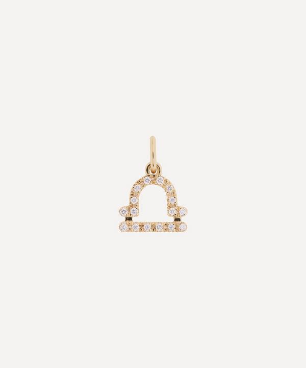 Liberty - 18ct Gold Libra Diamond Celestial Pendant