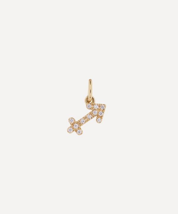 Liberty - 18ct Gold Sagittarius Diamond Celestial Pendant
