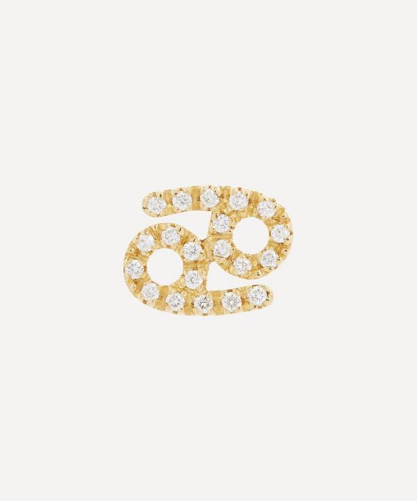 Liberty - 18ct Gold Cancer Diamond Celestial Single Stud Earring