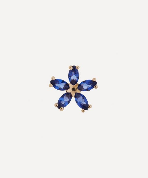 Liberty - 9ct Gold Bloomy Blue Sapphire Single Stud Earring
