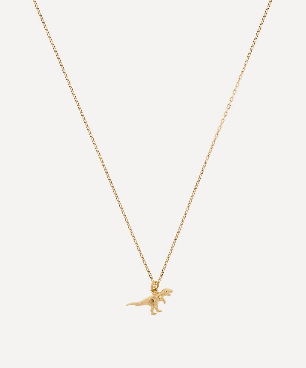Alex Monroe - 18ct Gold Teeny Tiny Tyrannosaurus Rex Pendant Necklace
