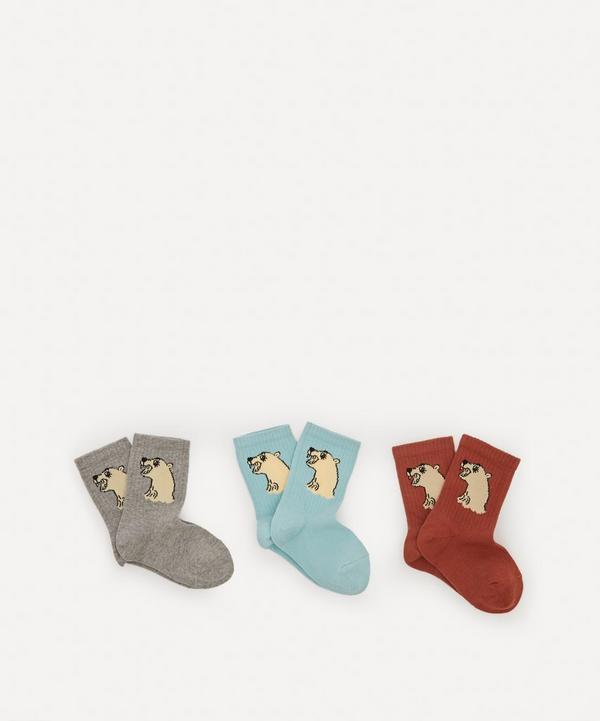 Mini Rodini - Polar Bear Socks Pack of Three Size 20-28