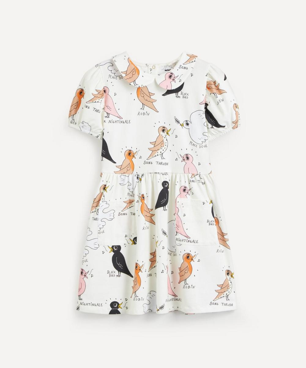 Mini Rodini - Birdswatching Print Puff Sleeve Dress 2-8 Years