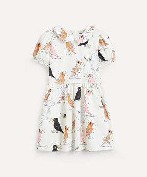 Birdswatching Print Puff Sleeve Dress 2-8 Years
