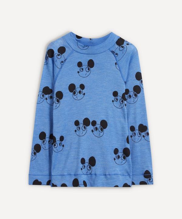 Mini Rodini - Ritzratz Wool-Blend Long Sleeve T-Shirt 2-8 Years