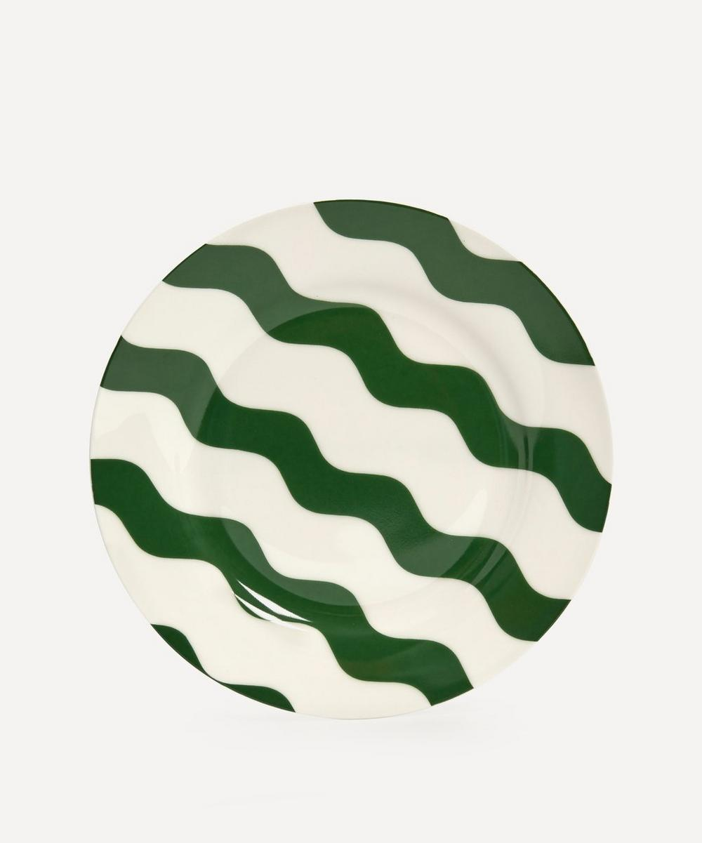 CasaCarta - Scallop Side Plate Green