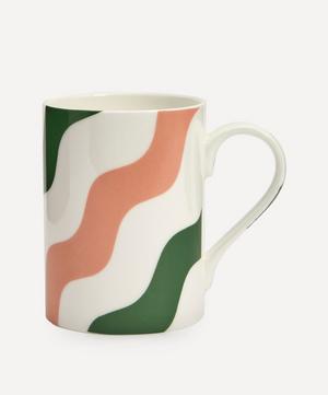 Scallop Mug Pink & Green Set of Two