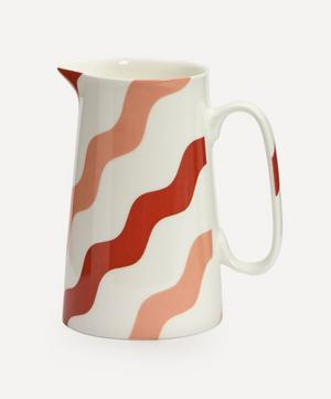Scallop Pitcher Pink & Red