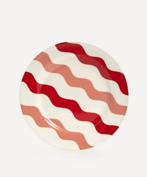 Scallop Side Plate Pink & Red
