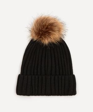 Wool-Blend Pom Pom Beanie Hat