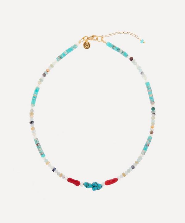Mayol - Gold-Plated Kekoa Beaded Choker Necklace