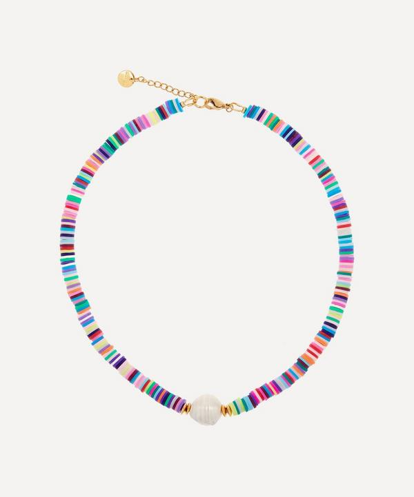 Mayol - Gold-Plated Weekend at Mayol's Beaded Baroque Pearl Choker Necklace