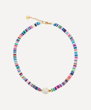 Gold-Plated Weekend at Mayol's Beaded Baroque Pearl Choker Necklace